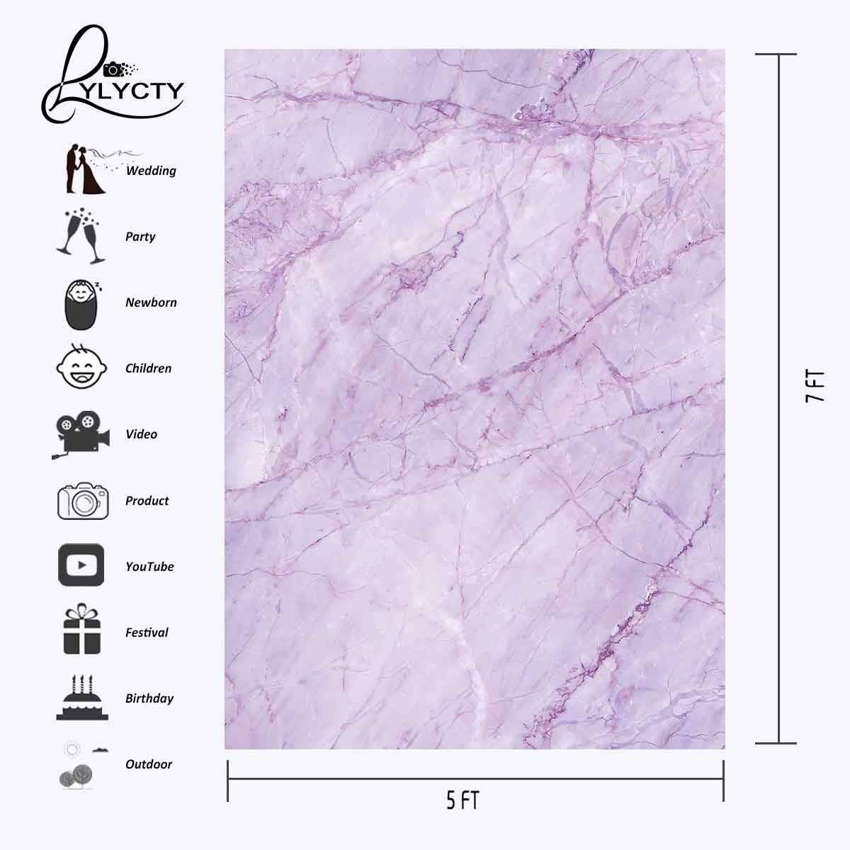 Image 3 - 5x7ft Violet Marble Texture Pattern Backdrop for Photo Shoot Background Photography Studio Props-in Photo Studio Accessories from Consumer Electronics