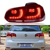 Для VW Golf 6 светодиодные задние фонари 2009 2012 Гольф mk6 автомобилей Стайлинг хвост свет аксессуары Задний фонарь задний фонарь DRL + тормоз + Park + с