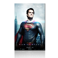 FREE SHIPPING Man Of Steel Movie Poster Art Prints Decoration Canvas Painting Unframed 60x90cm
