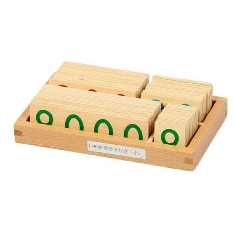 Jeu de banque nouveau matériel de mathématiques Montessori-grand nombre de cartes en bois (1-9000) Montessori Juguetes Educativos jouet éducatif