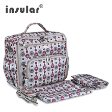 2016 New Arrival Insular Baby Diaper Backpacks 600D Nylon Mommy Backpack Nappy Bag Changing Bag