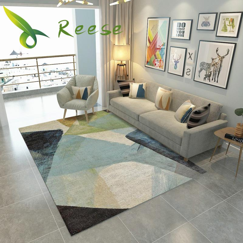 Alibaba Geometric Modern Soft Nordic Carpet For Living Room Non-slip Antifouling Carpet For Bedroom Parlor Factory Direct Supply