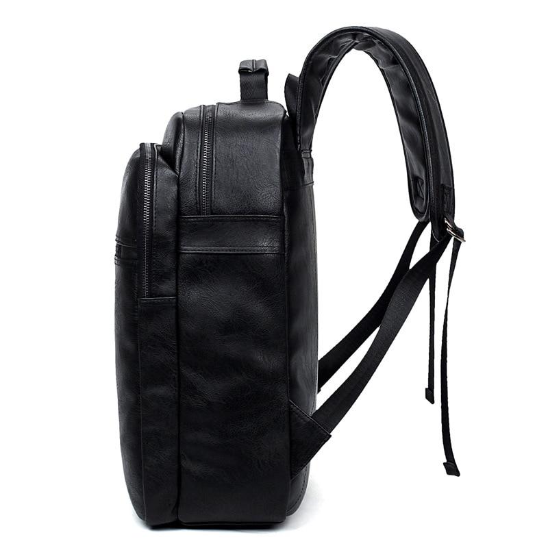 Luxe merk bookbags mannen rugzak leer mannelijke functionele tassen - Rugzakken - Foto 4