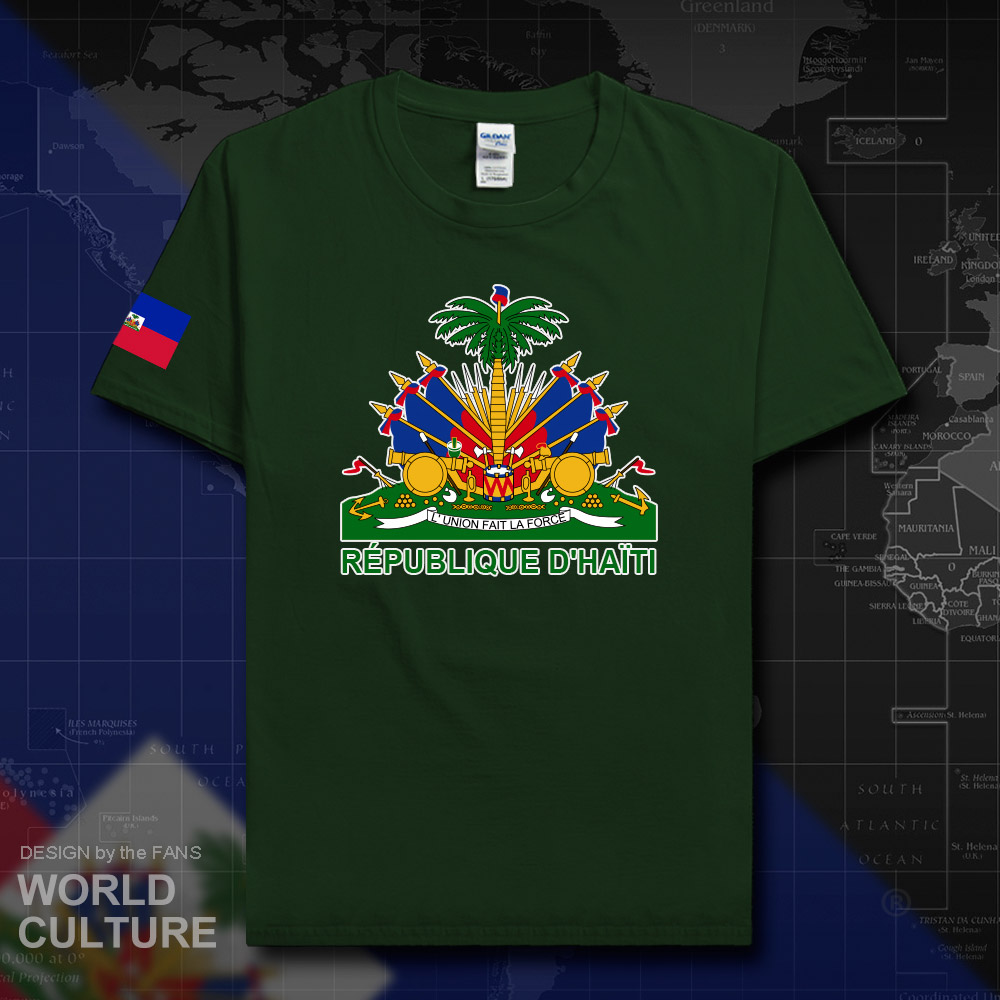 Haiti Haitian T Shirt Man 2018 T-shirt Cotton Nation Team 100% Cotton Tshirt Gyms Clothing Fitness Hayti Ayiti Country Flag 02 Tops & Tees T-shirts
