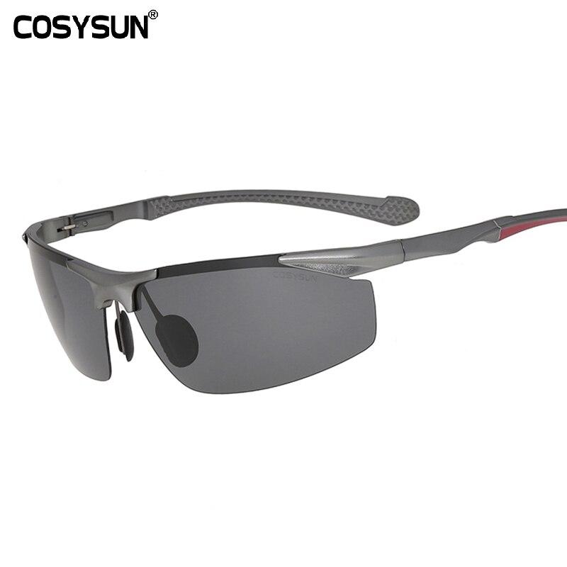 Sonnenbrille Männlich Polarisierte Sonnenbrille Anti-UV Stabile Aluminium Magnesium Legierung Rahmen 7ndMfz