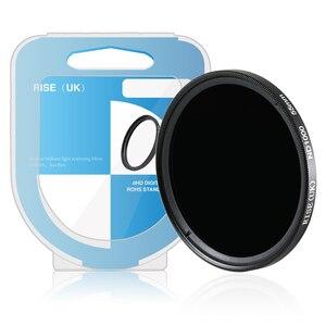 Image 3 - RISE (UK) 49mm 52mm 55mm 62mm 67mm ND1000 72mm 77 milímetros magro densidade Neutra ND filtro para a lente da câmera digital DV