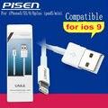 Original PISEN 1 UNIDS 8pin Cargador USB Sync Cable de Datos para iPad4 para iphone5 cable para iphone6 5S ios9 cable para ipad air2 cable