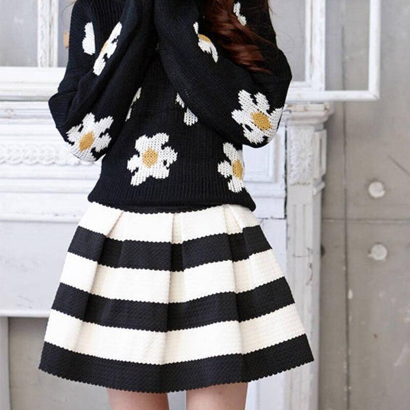 release date: 5d24b 49eb1 US $8.69  Neue Ankunft Korea stil Sommer Mode Frauen Gestreifte Röcke Weiß  Tank Elastische Hohe Taille Mini Kurzen Rock eine größe in Neue Ankunft ...