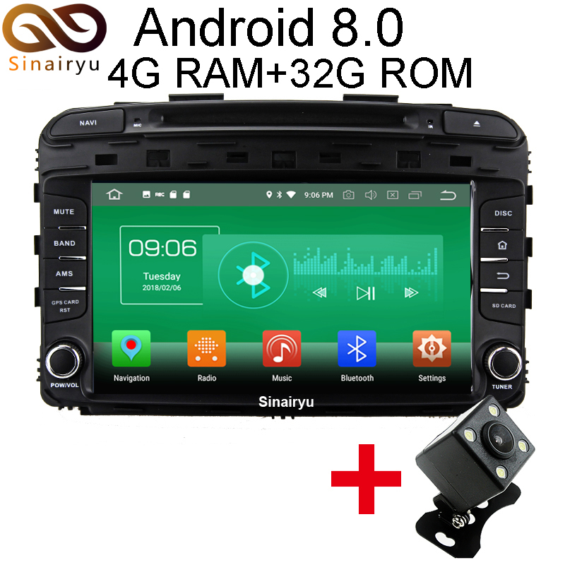 Sinairyu 4G RAM Android 8 0 Car DVD For Kia Sorento 2015 2016 Octa Core 32G