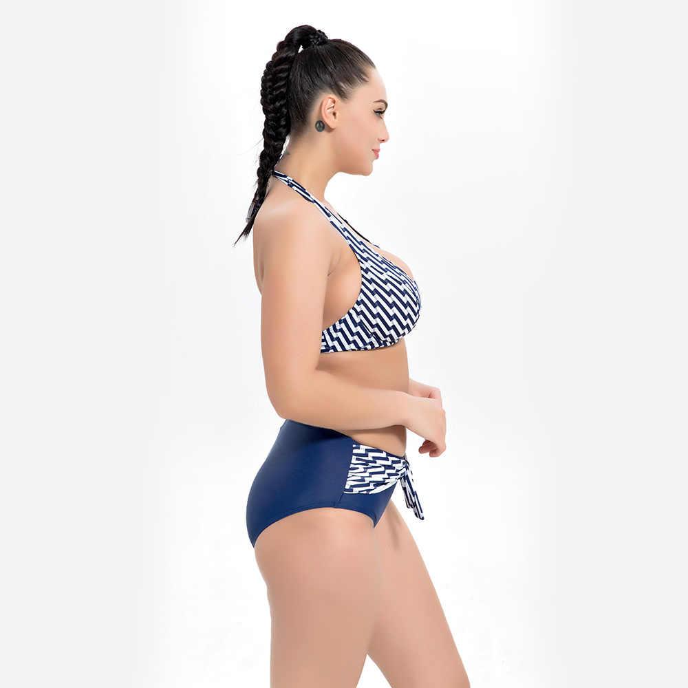DROZENO 2019 セクシーな大サイズビキニ女性水着ビッグチェスト水着マイヨ · デ · ベインのファム高待つビキニセットセクシーな
