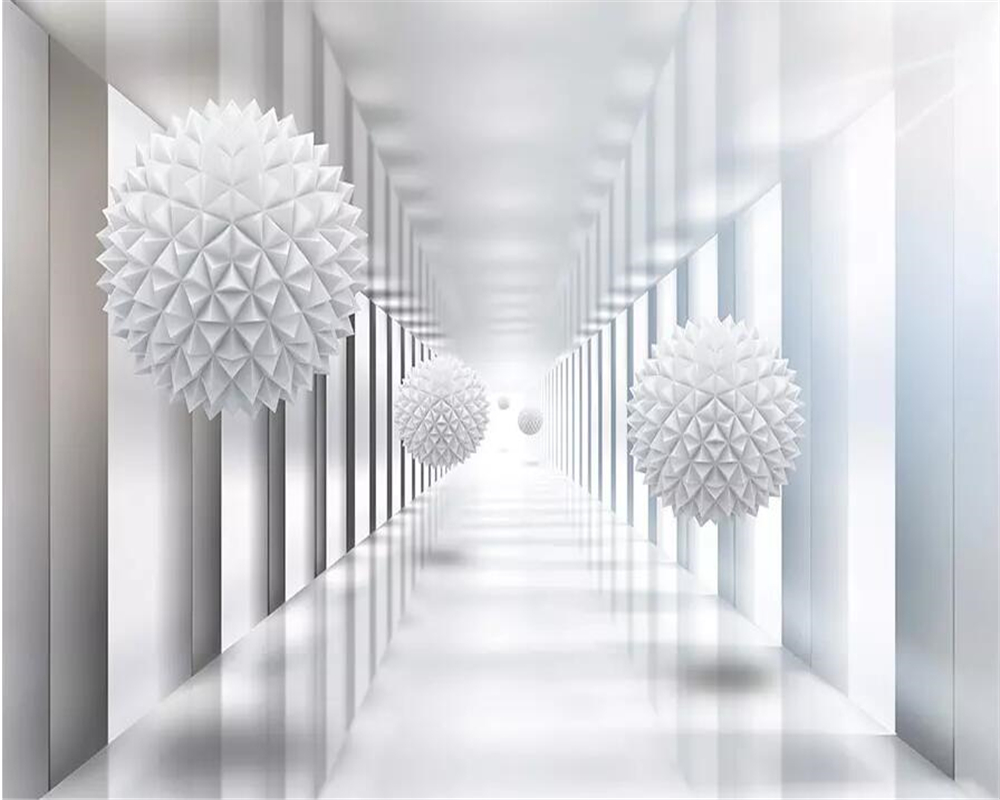 Купить с кэшбэком beibehang Wallpaper abstract architectural polygon ball 3d stereo space TV background wall paper home decoration 3d wallpaper