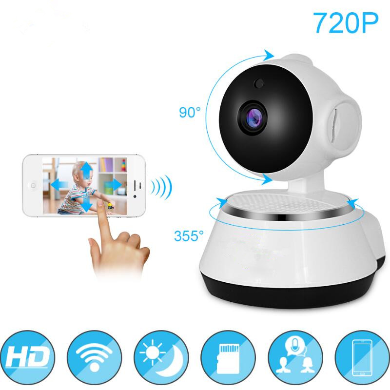HD Wireless Wifi  IP Camera 720P Home Security Surveillance Camera 3.6mm Lens Wide Angle Indoor Camera Support Night Vision