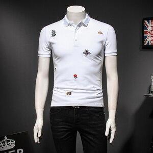 Image 4 - Мужская рубашка поло с цветочным принтом, размеры M 4XL/5XL