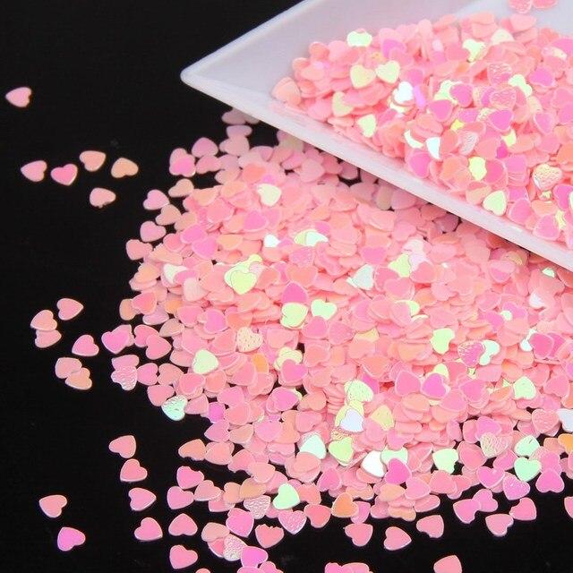 Cheap Nail Glitters Powder Wholesale Retail Brillante Lentejuelas Encantos de Uñas Rosa Dulce Amor Corazón Diseño Suministros de Manicura Herramientas WY23