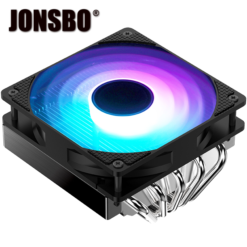 JONSBO CPU RADIATOR CR 701 PRESSURE 5 HEAT PIPE 12CM LIGHT EMITTING FAN цены онлайн