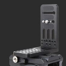 цена на Jieyang vertical L-shaped  quick-loading SLR camera camera tripod Universal quick-loading plate for Sony MC2500 PXW-FS7K