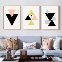 Abstract Posters Geometric Marble Polygon Canvas Minimalist Wall Art  Prints Painting Nordic Decoration Pictures Room Home Decor