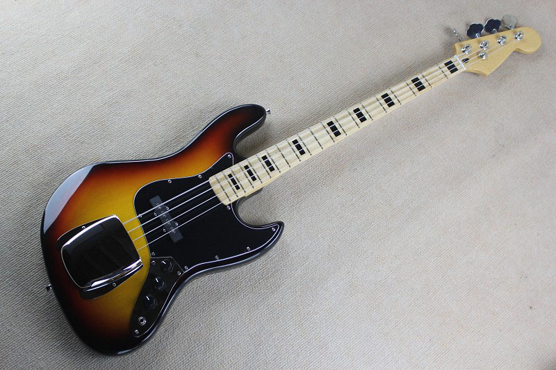 Free Shipping Factory Custom Shop new High Quality jazz 4 String Bass Guitar Natural wood sunburst   @31