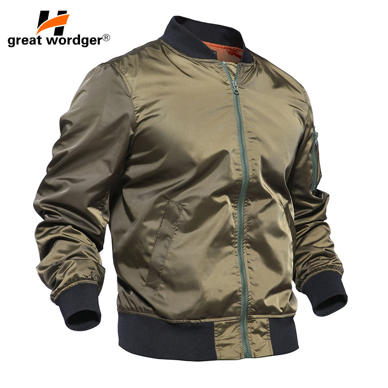 Men Autumn MA1 Bomber Tactical Jacket Thin Military Jacket Army Pilot Air Force Jacket Men Waterproof Windbreaker Hunt Clothes striped trim fluffy panel bomber jacket