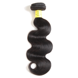 Queen Like Hair Products 100% Human Hair Bundles 8-28 Inches Non Remy Color 1b Hair Weave Bundles Brazilian Body Wave