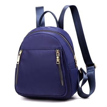 Fashion Nylon Small Backpack Women Waterproof Flower Travel Multi-function Beach Soft Shoulder School Bag Bagpack 4