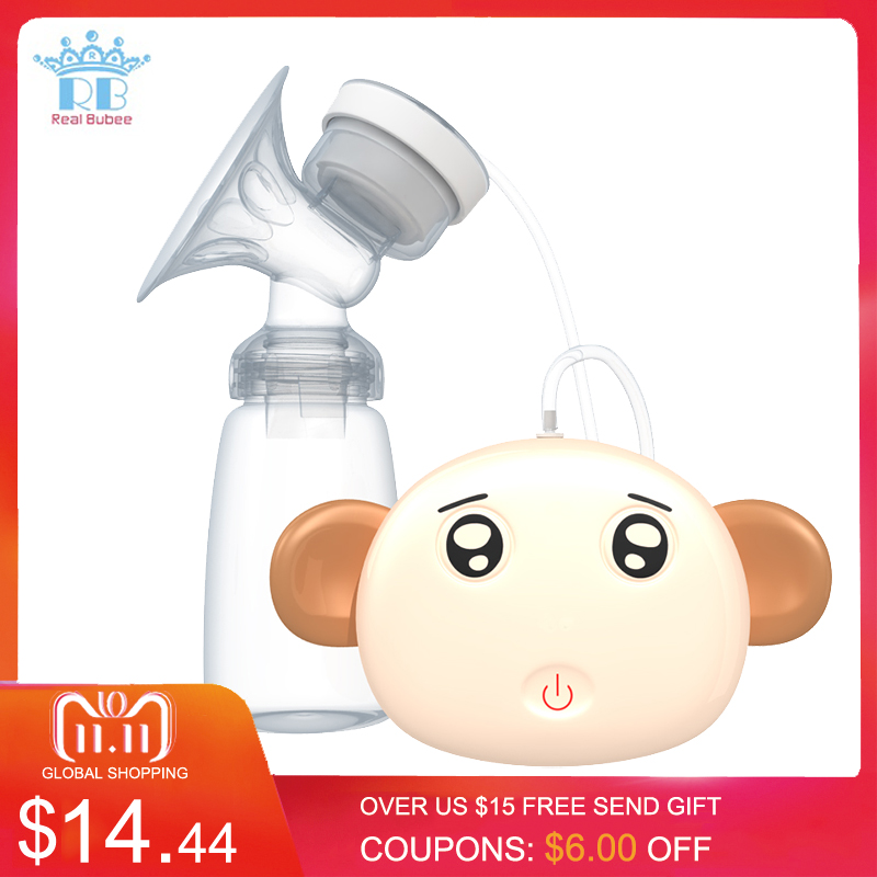 new 2016 Breast feeding cute animal electric breast pump DIY 9 kinds of expressions Powerful suction USB electric breast pumps