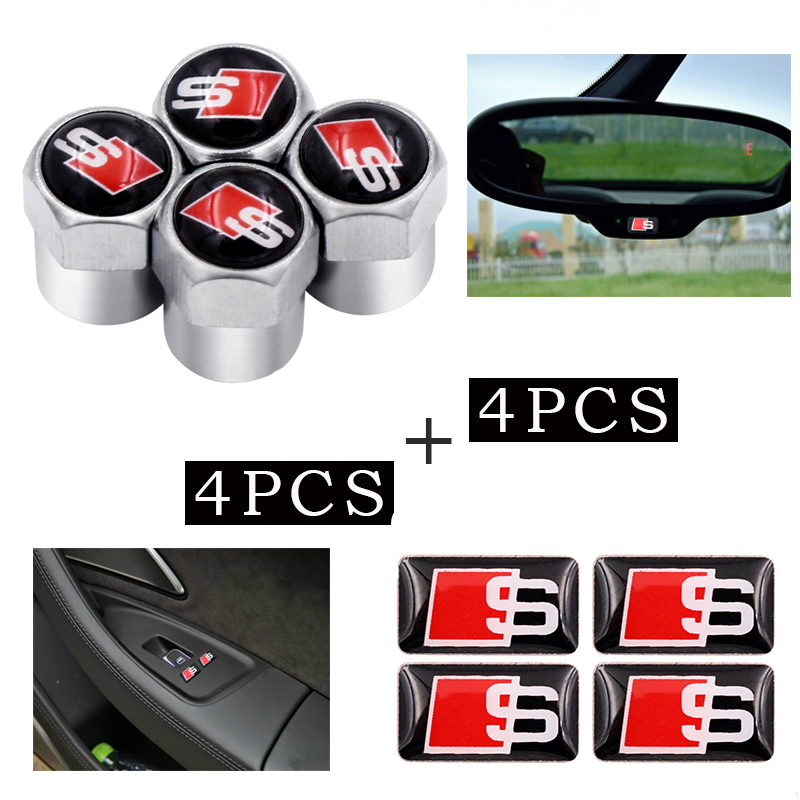 Wheel Air Cover Tight Rims car sticker fit For AUDI A1 A3 A4 A5 A6 A7 A8 TT 80 Q3 Q5 Q7 A4L A6L S LINE B5 B6 B7 C5 car styling
