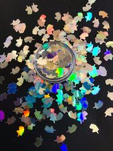 1 Box 10ml Holographic Unicorn Glitter,Silver spangle glitter 6MM Size nail art , JERT14-JK1