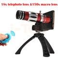 2017 Cámara Del Teléfono Lentes 150X Telescopio 18X Teleobjetivo Zoom Macro caso de trípode de la lente para samsung galaxy s3 s4 s5 s6 s7 borde