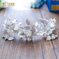 T3 Crystal Tiara women hairband floral Crown Women diadem pearl jewelry Bridal krona Wedding party accessories zuiqing