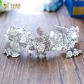 T3 mulheres hairband floral Mulheres Coroa diadema Tiara de Cristal pérola jóias Nupcial da coroa Do Casamento acessórios do partido zuiqing