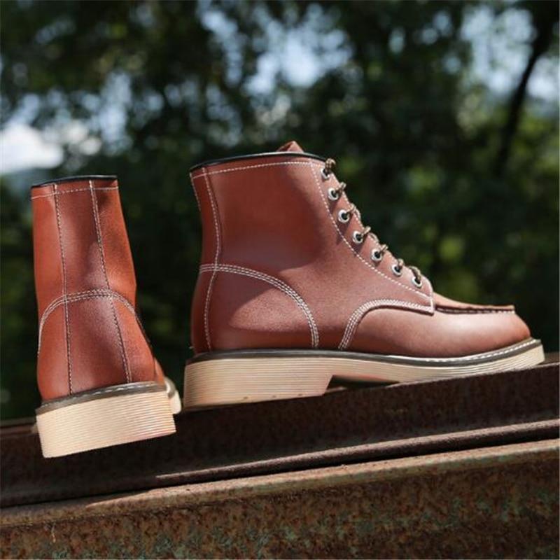 Outono Botas Boots Primavera Livre De Couro 02a yellow Ar Motocicleta Masculino Sapatos Red Ao Da Homens Tamanho Ankle preto Brown Grande Genuínas Militares dxFn7x0r