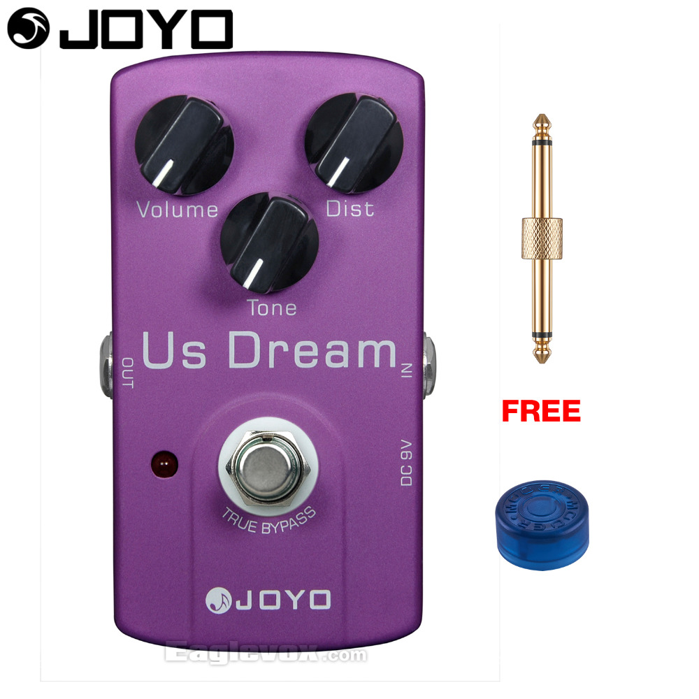 JOYO US Dream Distortion Electric Guitar Effect Pedal True Bypass JF-34 with Free Connector and Footswitch Topper mooer ensemble queen bass chorus effect pedal mini guitar effects true bypass with free connector and footswitch topper