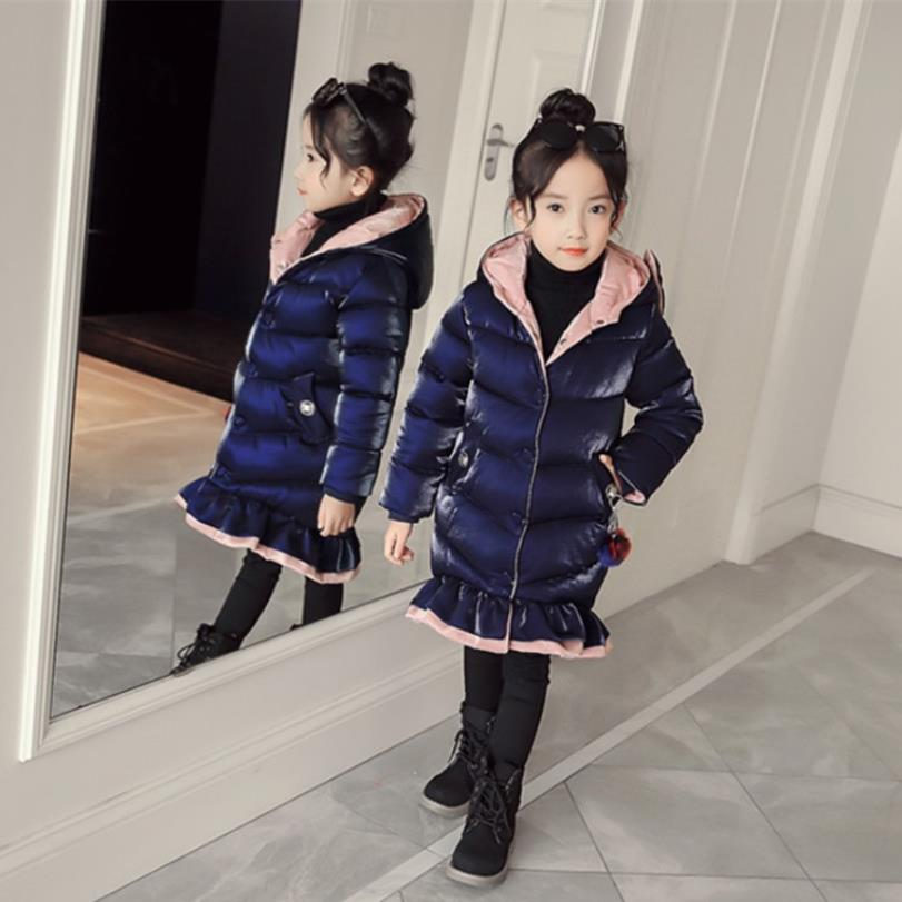 Girls fashion brand Gold velvet thicker cotton jackets children cute bow and ruffles long coats zipper fashion outerwear ws14Girls fashion brand Gold velvet thicker cotton jackets children cute bow and ruffles long coats zipper fashion outerwear ws14