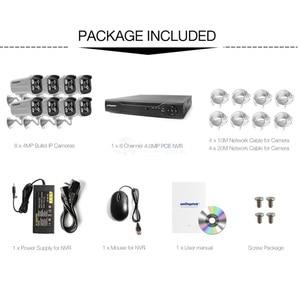 Image 3 - 4Ch 8Ch 4MP POE كاميرا الأمن طقم NVR H.265 نظام الدائرة التلفزيونية المغلقة مع 2592*1520 POE كاميرا IP في الهواء الطلق نظام الكاميرا للمراقبة بالفيديو