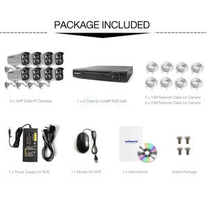 Image 3 - 4Ch 8Ch 4MP POE Security Camera NVR Kit H.265 CCTV System With 2592*1520 POE IP Camera Outdoor Video Surveillance Camera System