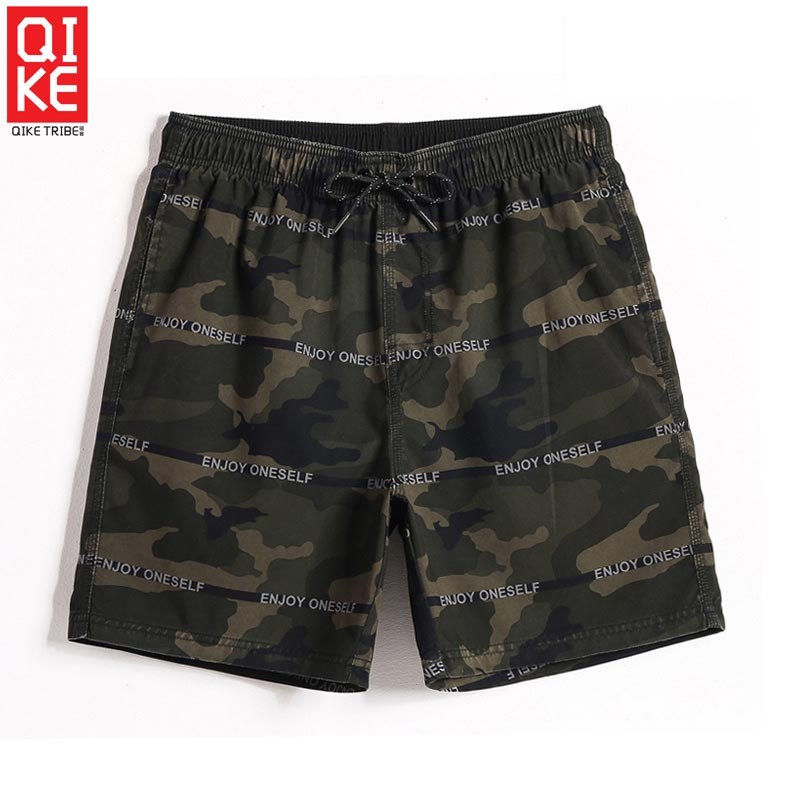 Summer camouflage Men's swimming swimwear plavky praia beach   shorts   loose trunks sexy liner drawstring   board     shorts   mesh