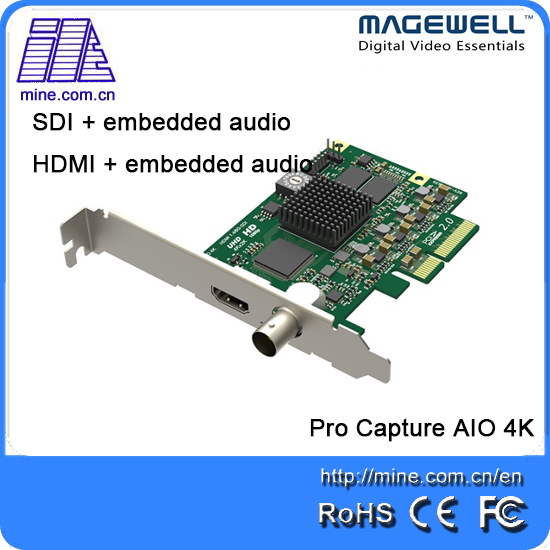 US $549 0  Magewell Pro capture AIO 4K 1 channel HDMI+SDI input with  embedded audio-in Video & TV Tuner Cards from Computer & Office on  Aliexpress com
