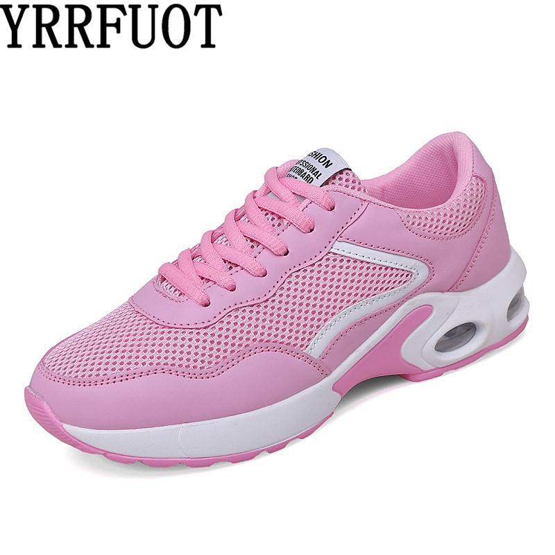 YRRFUOT Women Shoes Fashion Trend Sneakers Breathable Flyknit Air Mesh Casual For Woman Running Vulcanized Shoes Moda Mujer 2019