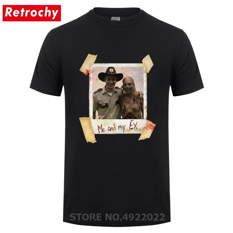 Retro The Walking Dead T-Shirt Vintage Old Photos Men's Hipster Tshirt Casual Movie Cool T Shirt Novelty Design Hip Hop Clothing
