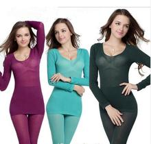 37 Degree 2016 New Women's Winter Thermal Underwears Fashion Seamless Breathable Warm Long Johns Ladies Slim Underwears Sets