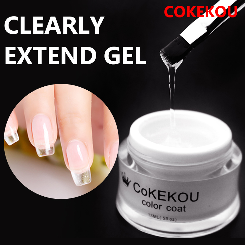 CoKEKOU LED Hard Jelly Gel Thick Nail Art Manicure Mold Clear Pink Camouflage Jelly Builder Nail Extend UV soak-off gel lacquer damask silica gel mold