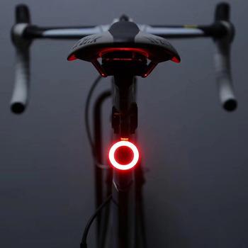 USB ładowanie tylne światła rowerowe światła MTB noc jazda rower szosowy jazda kreatywne tylne światła akcesoria rowerowe tanie i dobre opinie Sztyca COB01 CE FCC Rosh INBIKE USB charging Bike Taillight Aluminum alloy 59 5*28 5*20mm