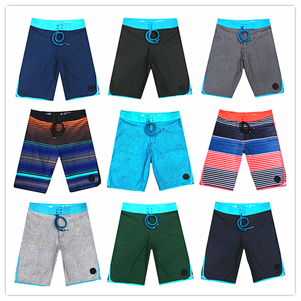 2019 New Designer Brand Elastic Beach   Board     Shorts   Men 100% Quick Dry Men's Spandex Swimwear Male Sexy Bathing   Shorts   Size 30-36