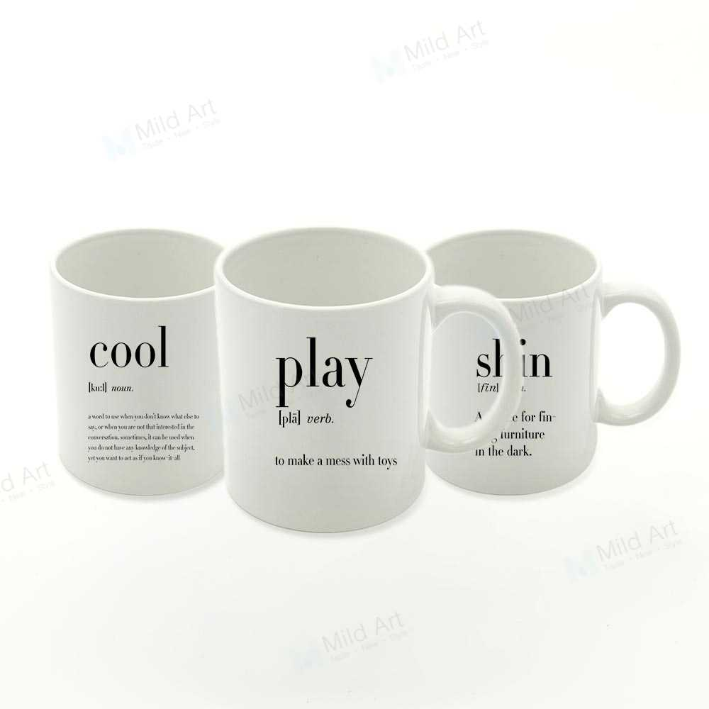 Nordic Black White Minimalist Play Travel Humor Funny Quotes Kitchen  Ceramic Water Cups Creative Cool Gifts Coffee Tea Mugs Set