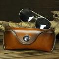 Handmade genuíno couro de luxo caso espetáculos de alta-grade presente delicado para os homens e mulheres de negócios portátil óculos cinto carteira