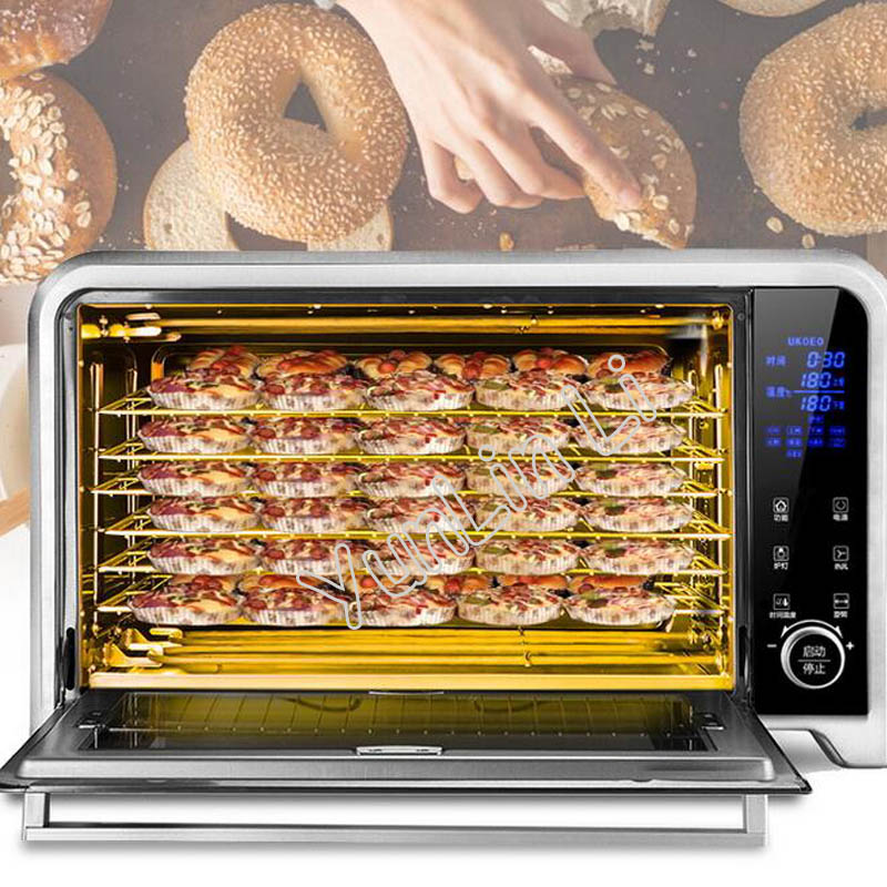 75L Large Capacity Eletric Oven Home Baking Fully Automatic Computerized Pizza Maker Electric Toaster E7002 10 pcs car spdt 5 pin 1no 1nc green indicator relay ceramic socket 80a 12v dc