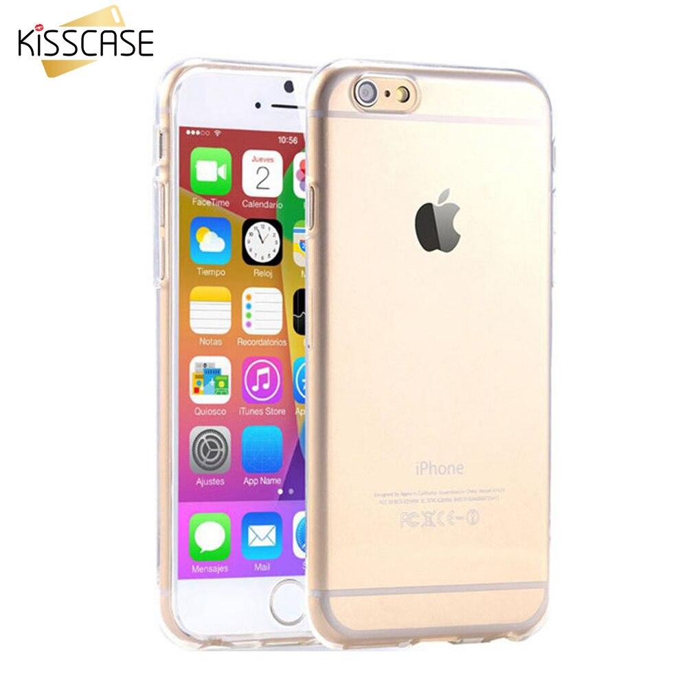 KISSCASE Fall Für iPhone 6 6 s 7 Fall Abendessen Flexible Klar TPU Fall Für iPhone 6 6 s 7 Plus Schlank Crystabl Gummi Coque abdeckung