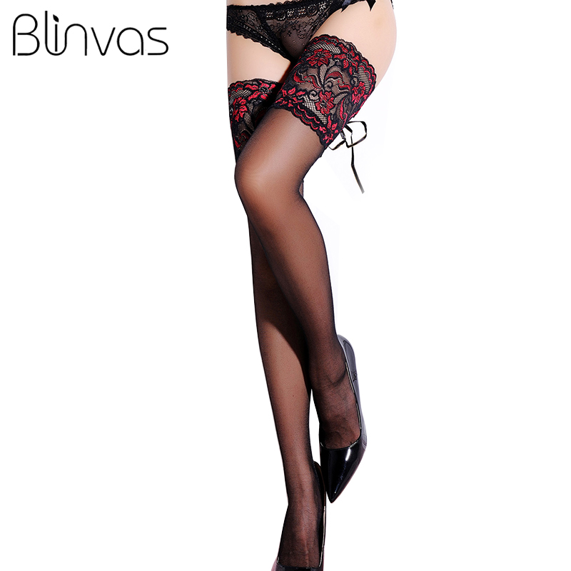 SHEER THIGH HIGH STOCKINGS WITH STAY UP SILICONE LACE TOPS OS /& QN Multi Colors