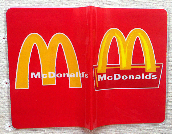 New High quality PVC passport Cover , ID Credit Card Cover business Card -ID Holders for travel -McDonalds pattern